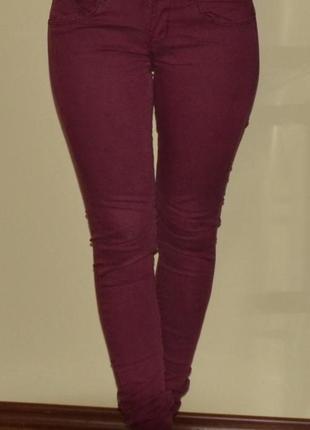 bd0c65645f8 Бордовые джинсы брюки скинни1 фото · Бордовые джинсы брюки скинни2 фото ...