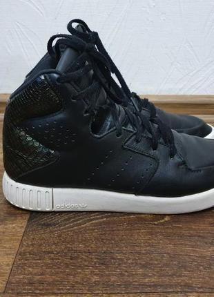 Стильные высокие кроссовки adidas tubular invader 2.0 (s80552) оригинал кожа