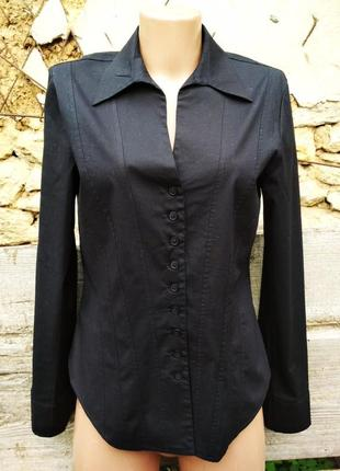 Черная блуза с запонками laura ashley6 фото