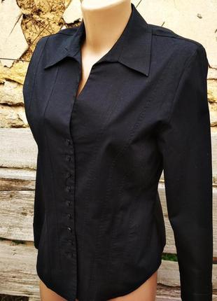 Черная блуза с запонками laura ashley1 фото