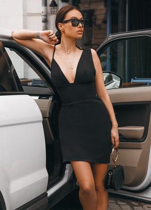 Мини платье с ассиметричными лямками