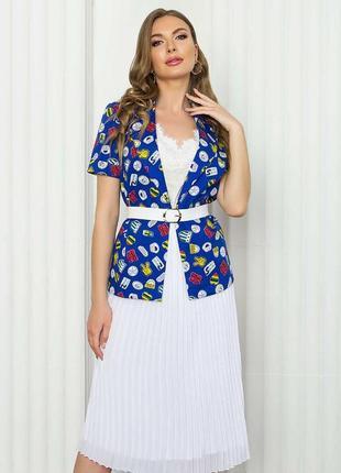 Женский комплект из юбки-плиссе и жакета