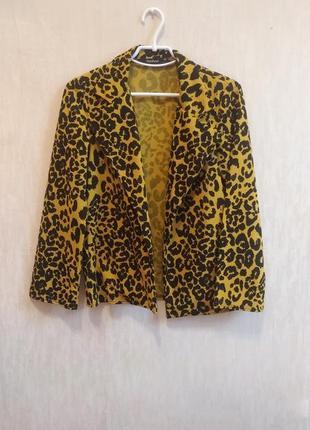 Жакет піджак леопардовий boohoo тигровый пиджак жакет леопардовый тренч