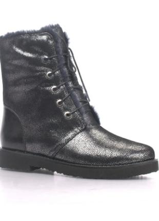 Женские ботинки respect натуральная кожа цигейка 38-й размер