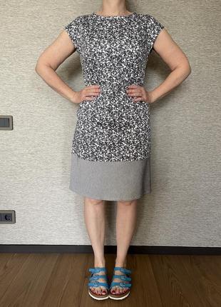 Платье @don.bacon короткое узкое серое в цветы