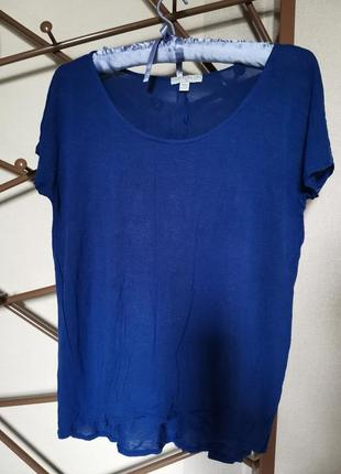 Футболка синяя размер s m l xl футболочка cotton on