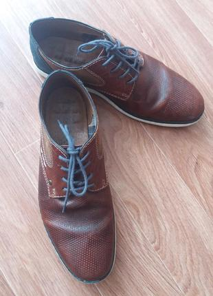 Туфли на шнурках.р.43.бренд.