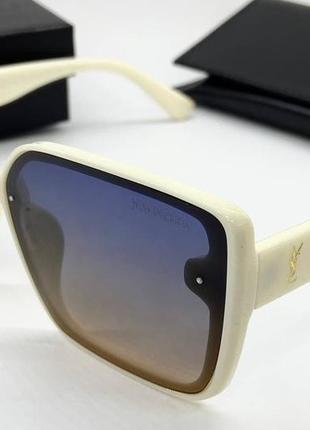 Ysl женские солнцезащитные очки поляризованные с градиентом белые квадраты