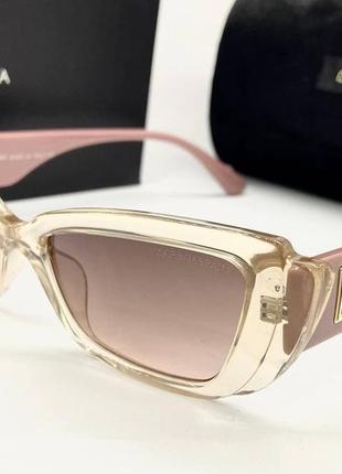 Dolce gabbana очки женские солнцезащитные бежевые прозрачные бабочки с розовыми дужками