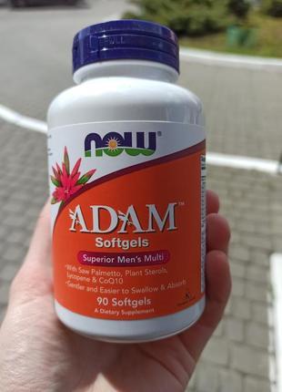 Adam, ефективні мультивітаміни для чоловіків, 90 капсул для мужчин мультивитамины