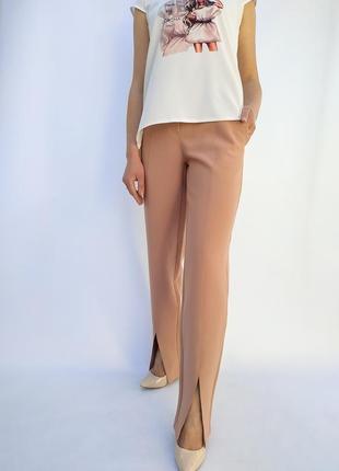 Трендові штани з розрізами, брюки, брюки з розрізом