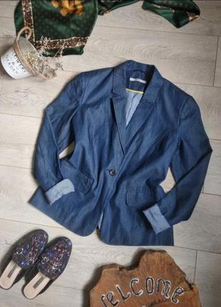 Летний пиджак жакет блейзер из легкого денима