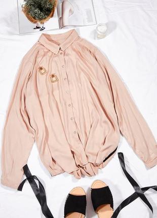 Пудровая рубашка женская
