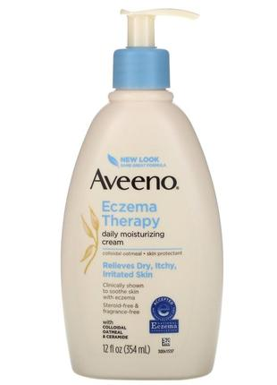Aveeno eczema therapy, moisturizing cream (354 ml) при экземе, атопическом дерматите у детей и взрослых
