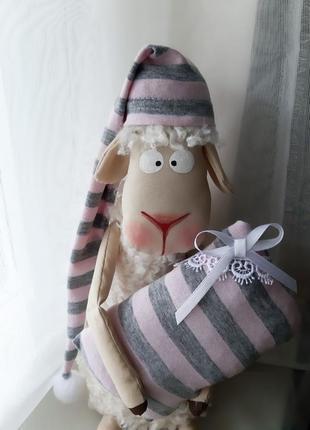 Интерьерная кукла овечка барашек декор для дома