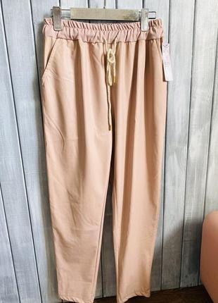Прогулочные брюки из экокожи италия