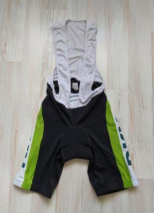 Велошорты с лямками и памперсом/велокомбинезон/велотрико vermarc