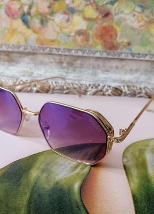 Эксклюзивные брендовые солнцезащитные очки унисекс стекла хамелионы в металлической оправе крутые!