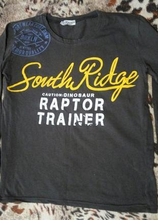 Реглан футболка кофта с длинным рукавом 146-158см хлопок трикотаж турция качество