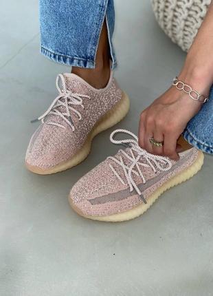 Рефлективные женские летние легкие спортивные кроссовки adidas yeezy boost
