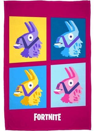 Флисовый плед fortnite лама - оригинал фортнайт - подарок для фаната игры