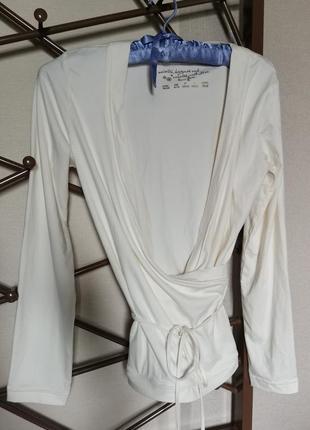Ночнушка футболка с длинным рукавом кимано белая 38 40 размер m l