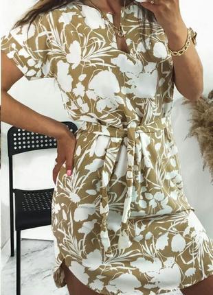 Топ продаж стильное летнее платье софт разные цвета принты