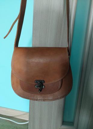Сумка с натуральной кожи, сумочка, сэтчел, кроссбоди,  сетчел