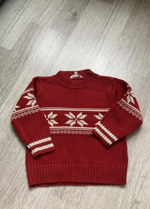 Кофта новогодняя,свитер рождественский для мальчика.