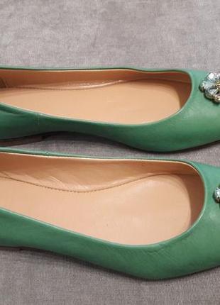 Итальянские кожаные туфли балетки мягусики