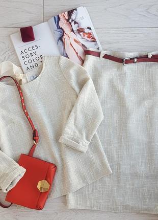 Костюм из ткани шанель