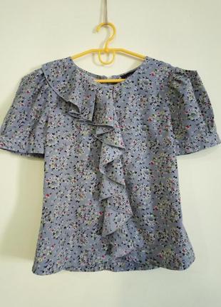 Серая блуза в цветочек spirit