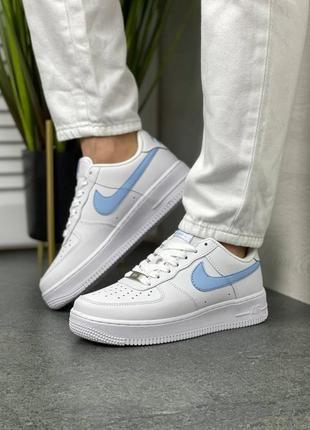 Женские кроссовки nike air force white/blue