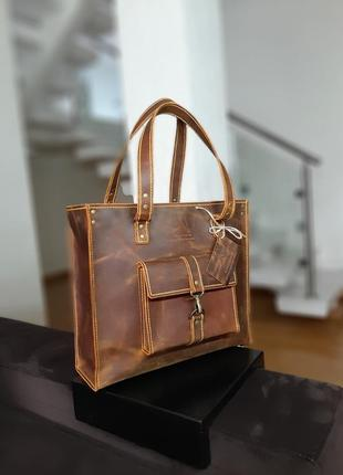 Стильная кожаная сумка.натуральная кожа