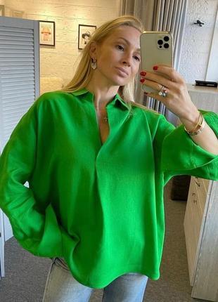 Рубашка женская лён