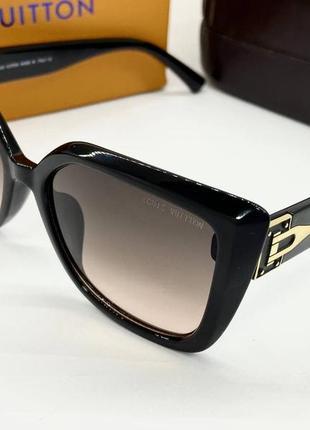 Louis vuitton очки женские солнцезащитные черные квадраты