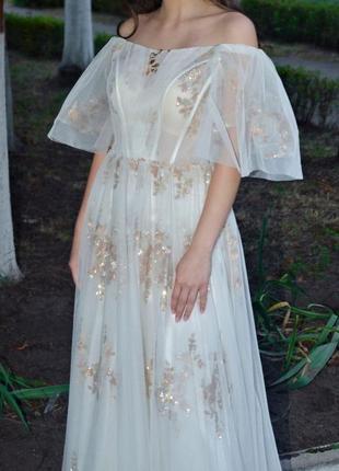 Роскошные вечернее платье