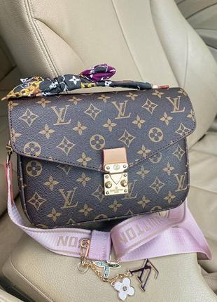 ❤ женская коричневая сумка сумочка pochette metis pink  ❤