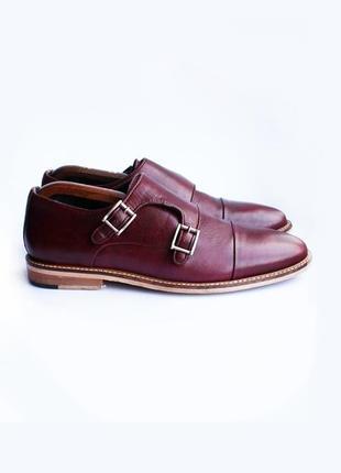 Монки туфли кожаные truestyle бордовые англия