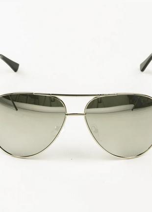 Очки унисекс солнцезащитные aviator (авиатор) зеркальные цвет линз: серый, зеркальный