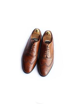 Barker туфли оксфорды ручной работы броги англия