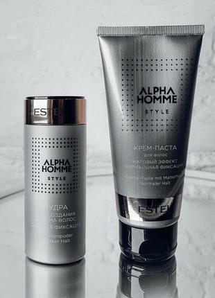 Alpha homme крем-паста для волос с матовым эффектом, 100 мл estel professional