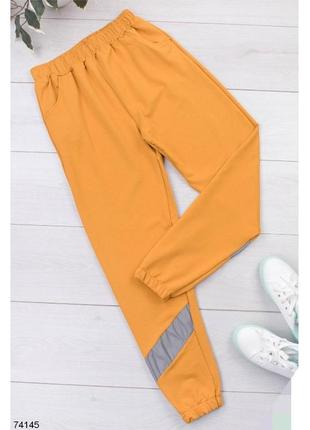 Женские спортивные брюки штаны жовті жёлтые желтые джогеры джоггеры спортивні штани жіночі з джогери турция турецкие