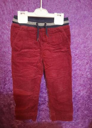 Плотные вельветовые штаны с подкладкой