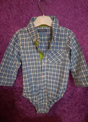 Рубашка боди с длинным рукавом