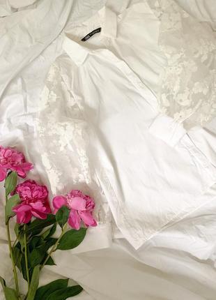 Белая рубашка, рубашка рукав фонарик, рубашка прозрачные рукава, рубашка zara