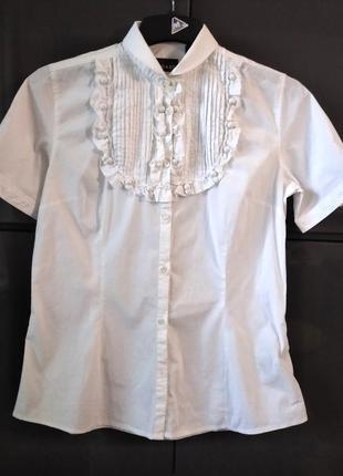 Белая блуза с коротким рукавом coast (италия)