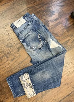 Укорочённые джинсы оригинал италия replay