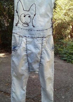 Комбинезон летний  джинсовый женский m-l