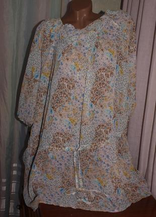 Лёгкая макис блуза (4-5 хл замеры) есть кармашки, отлично смотрится